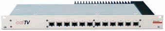 cat TV -  Panel 12 Ports mit Netzteil  ohne Rückkanal