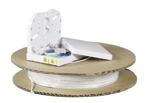 FTTX Compact Box 2x LC/APC Kupplung DX &4x LC/APC SM G657A2 4F Pigtail , 50 m