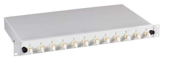 Spleißbox E2000® 50/125µ n.a. 12 PigtailsOM4/ 12 Kupplung