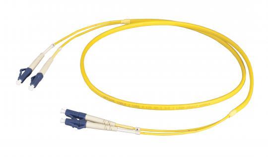 Duplex Patchkabel LC-LC 9/125µ, OS2, LSZH,gelb, Flat Twin 3x5mm, 1m