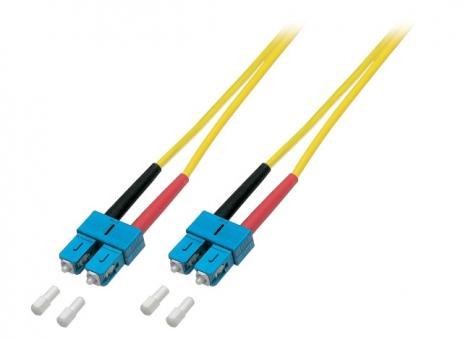 Duplex Patchkabel SC-SC 9/125µ, OS2, LSZH,gelb, Flat Twin 3x5mm, 10m