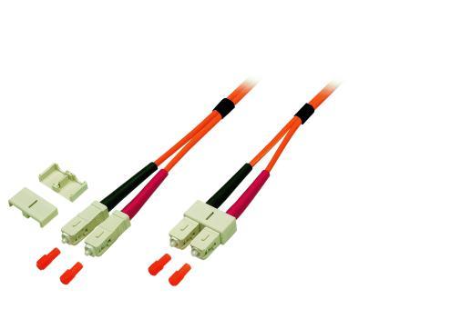 Duplex Patchkabel SC-SC 50/125µ, OM2, LSZH,orange, 3.0mm, 2m