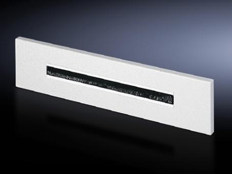 Flanschplatte mit Bürsteneinsatz, RAL 7035
